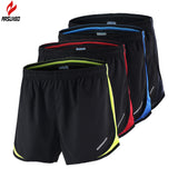 Arsuxeo 2 Men's Marathon Running Black  Training Crossfit Fitness Run Sports Shorts
