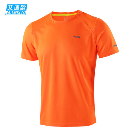 ARSUXEO Running Shirts Gym Crossfit Fitness Jersey Training T Shirt