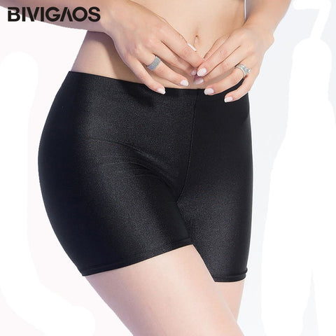 New Arrival Womens Sale Slim Glossy Chinlon Shorts