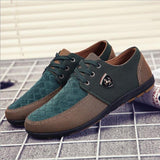 mens Shoes canvas for men fashion Flats Leather brand suede Zapatos de hombre