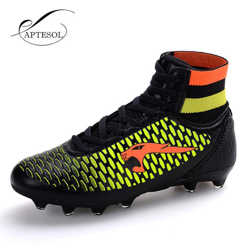 High Ankle Mens Football Training Hard-wearing High Top Soccer Cleats