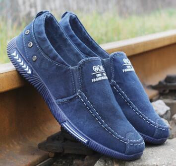 Men Casual  Breathable Fashion Footwear Male Loafers Shoes Black Mens Shoes Sales Flats Walking Shoes