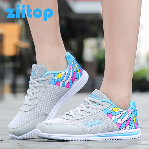 Zapato Women Mesh Zapatillas Shoes Network Soft Running Outdoor Sneakers