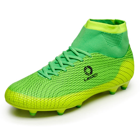 New Men's Outdoor Cleats  Ankle Top Football Training Soccer Sneakers