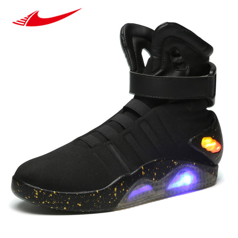 2017 Back To The Future glowing sneakers Soldier Shoes Brand boots Limited Edition