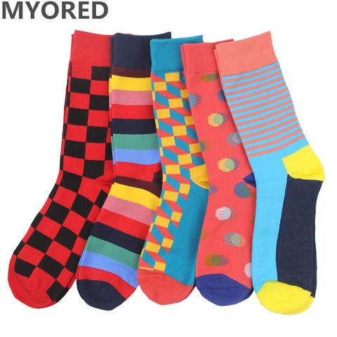 MYORED 2017 free shipping combed cotton brand new men socks