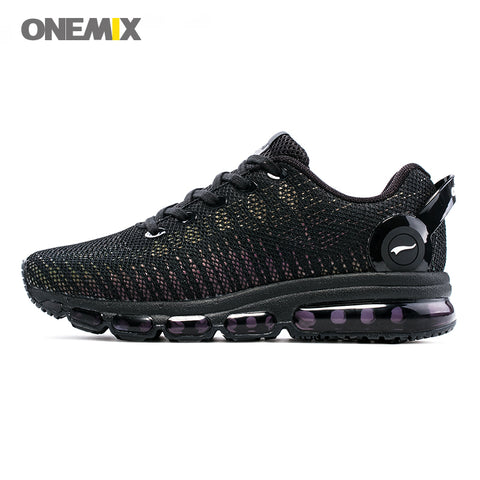 ONEMIX Men Running  Colorful Reflective Vamp Sport Sneakers Trainers