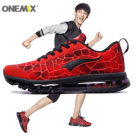 New Running Shoes Fashion Athletic Trainers Man Red Black Zapatillas Sports Shoe Max Sneakers