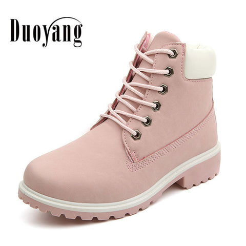 2017 Fashion women martin boot ladies  winter snow boots