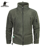 Mege Brand Clothing Coat Men Thicken Warm Military Army Fleece Jacket