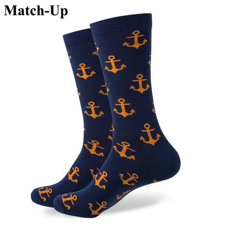 New style  men's combed cotton ANCHOR  Wedding socks