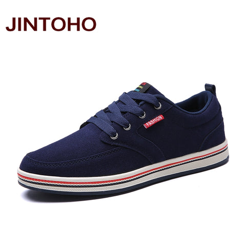 JINTOHO Big Size Brand Fashion Breathable Fashion Men Flats 2018 Sneakers