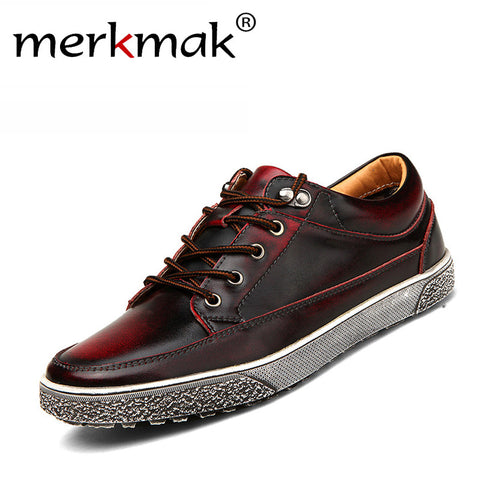 men vintage genuine leather shoes