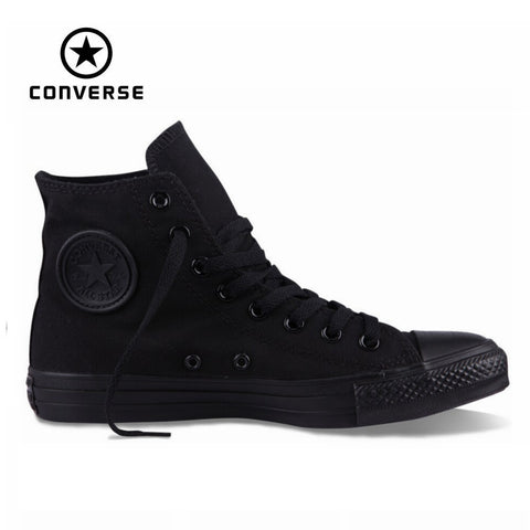Original Converse all star men women's sneakers canvas all black high classic Skateboarding Shoes
