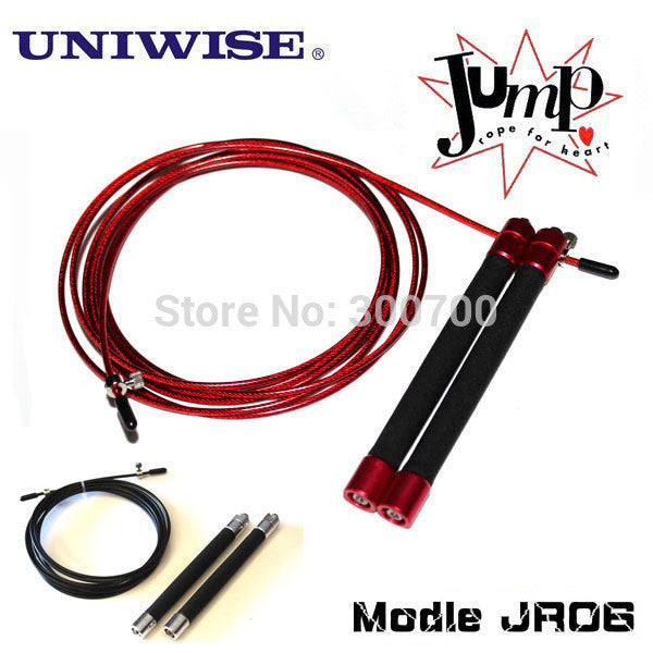 Speed Jump rope UIC-JR06, ball bearing Metal handle, Stainless steel cable
