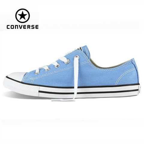 Original Converse All Star sneakers women low powderblue canvas shoes for women