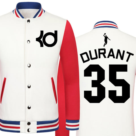 2016 Thunder Kevin Durant jacket big size clothing men jacket models college boys