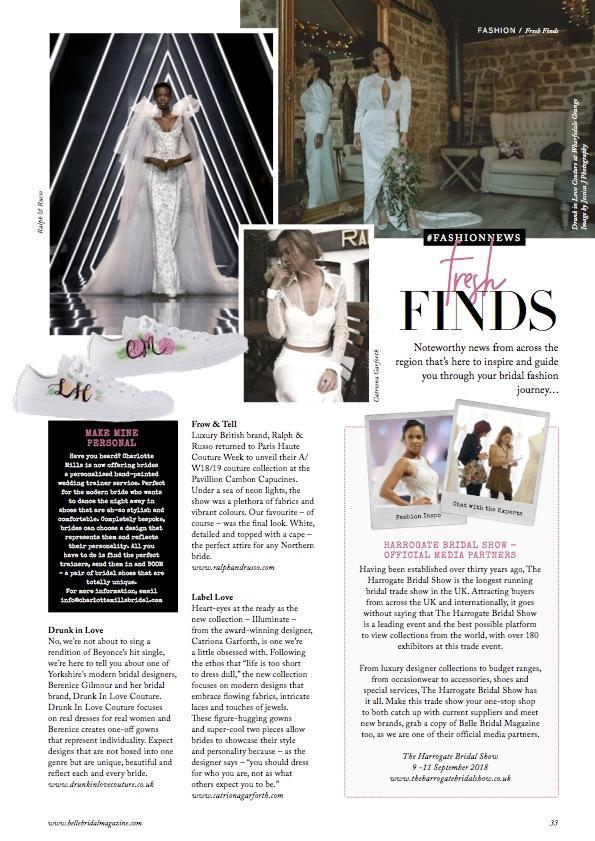 Belle Bridal Magazine AW18