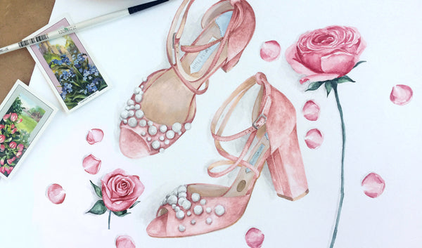 Win an Illustration of your Bridal Shoes!