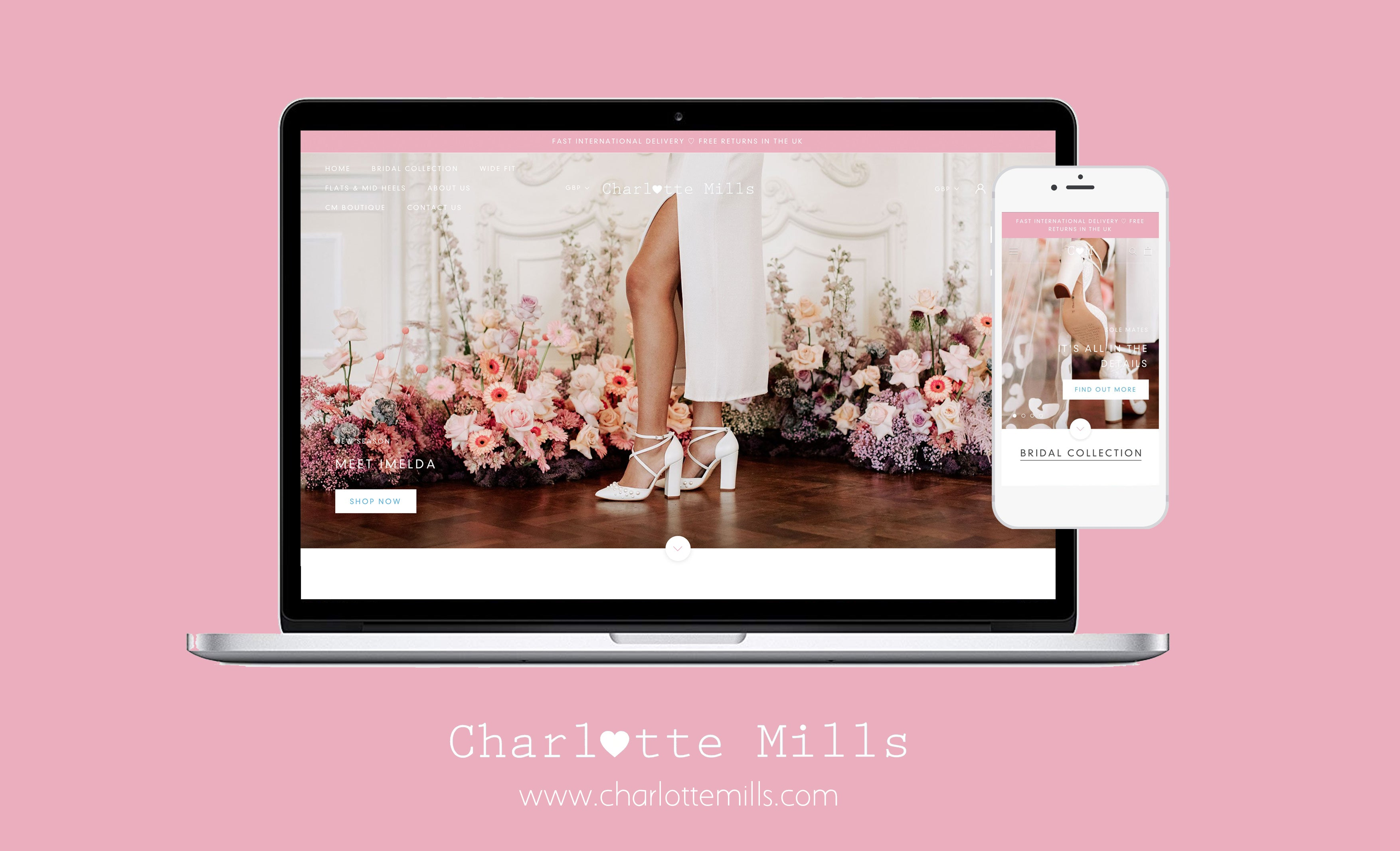 charlotte mills new website - 2020 bridal shoe collection