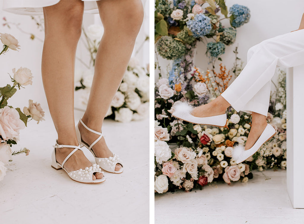 flat wedding shoes by Charlotte mills