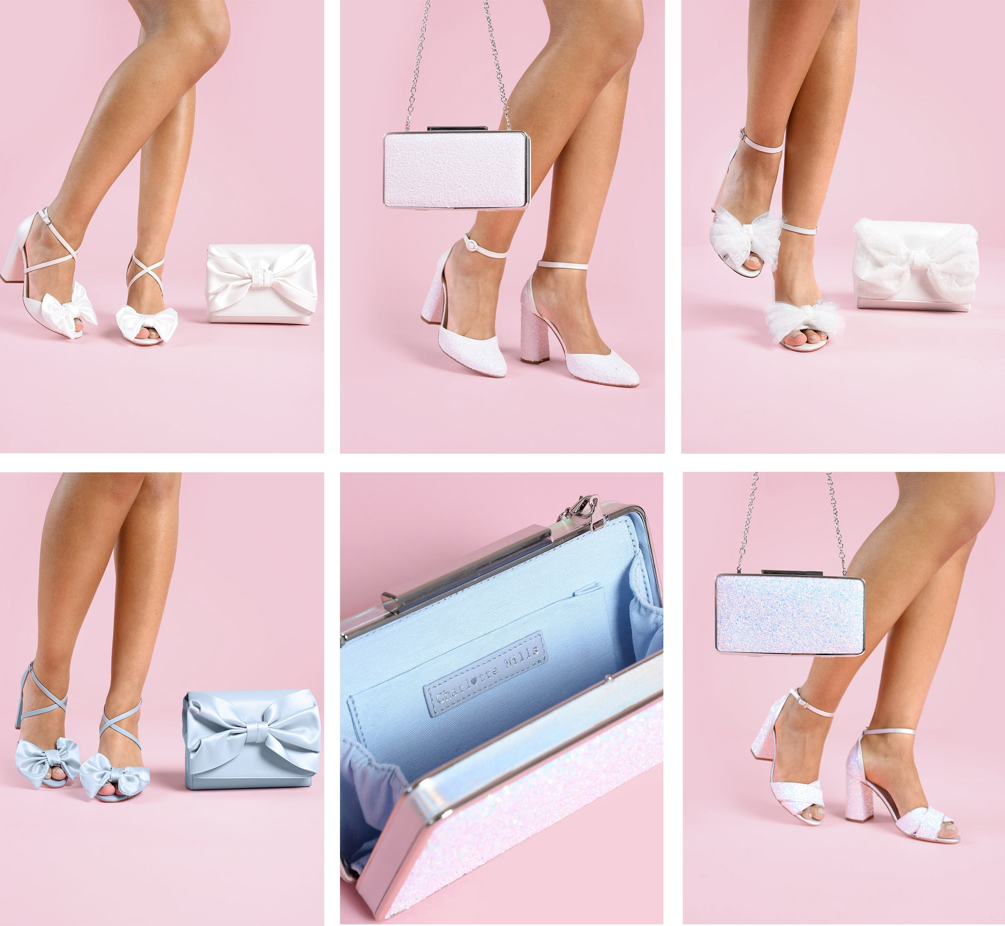 charlotte mills bridal clutch bags and matching wedding shoes