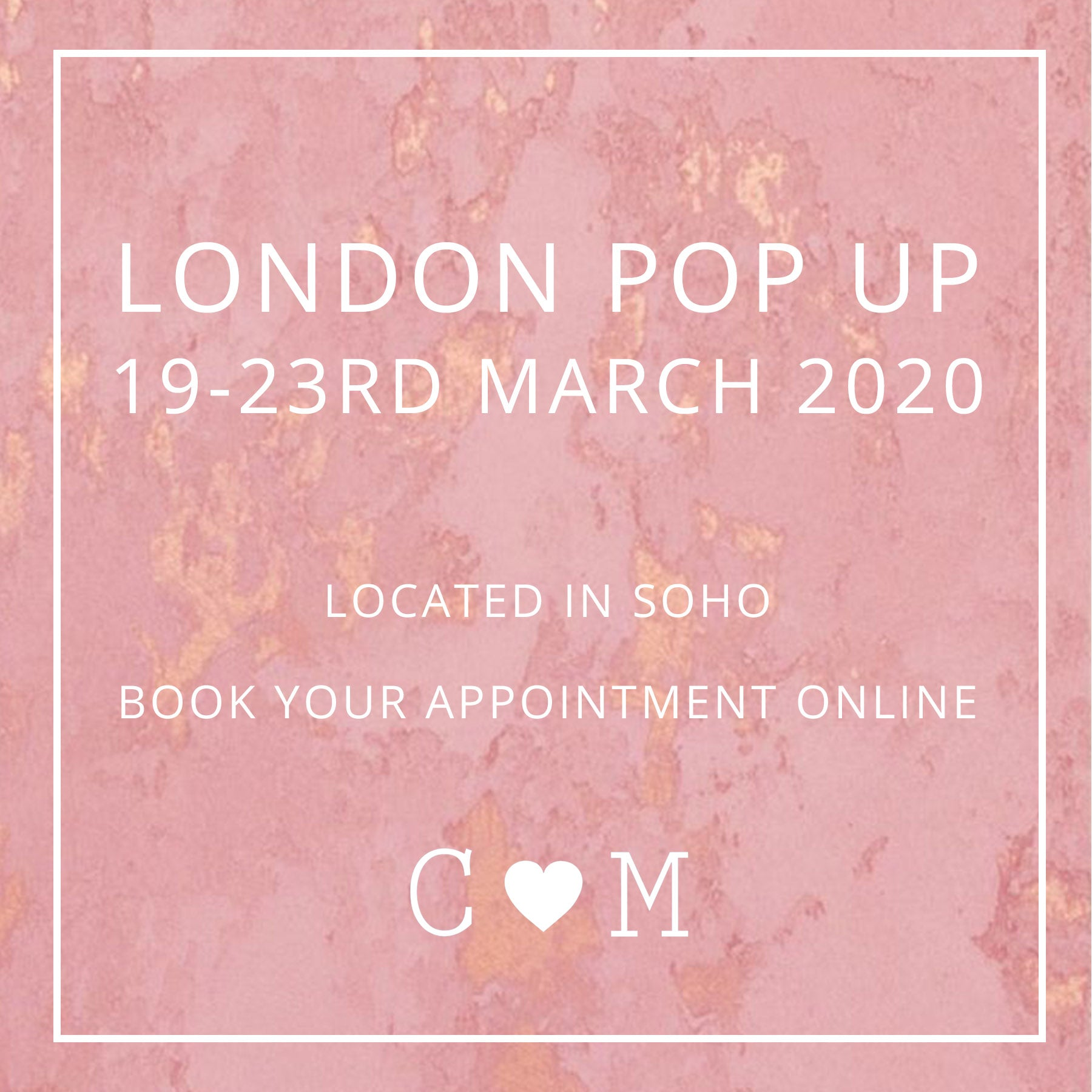 london pop up shop - march 2020 - bridal shoes