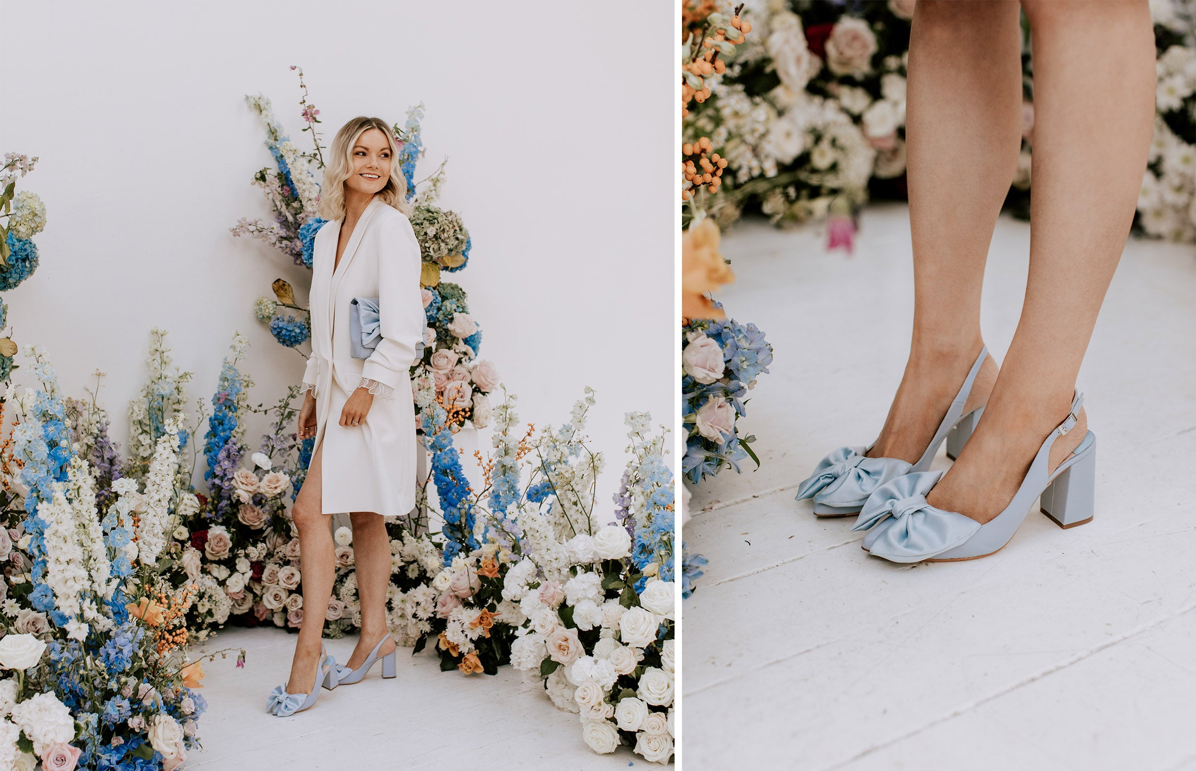 Jill Blue Wedding Shoes by Charlotte Mills