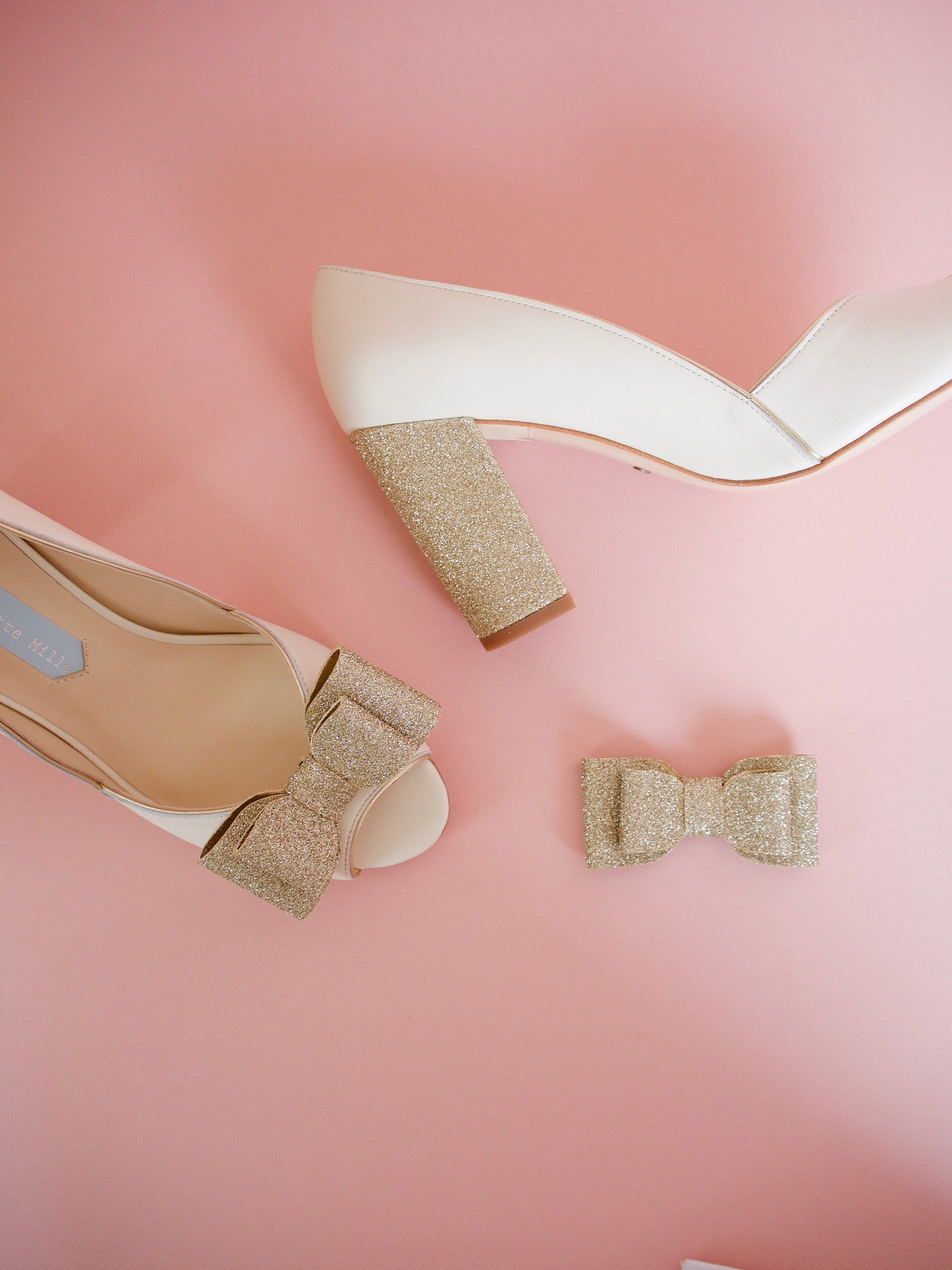 charlotte-mills-andrea-gold-glitter-bow-shoe-clips
