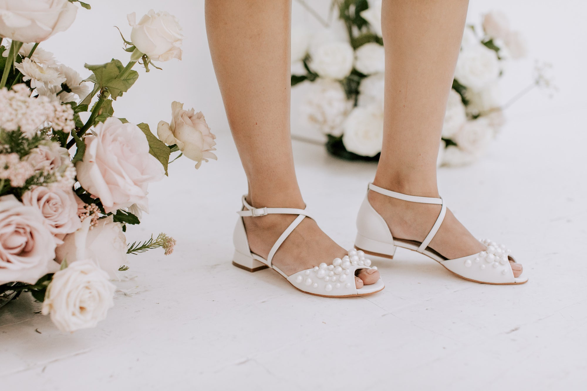 flat wedding shoes to wear on beach