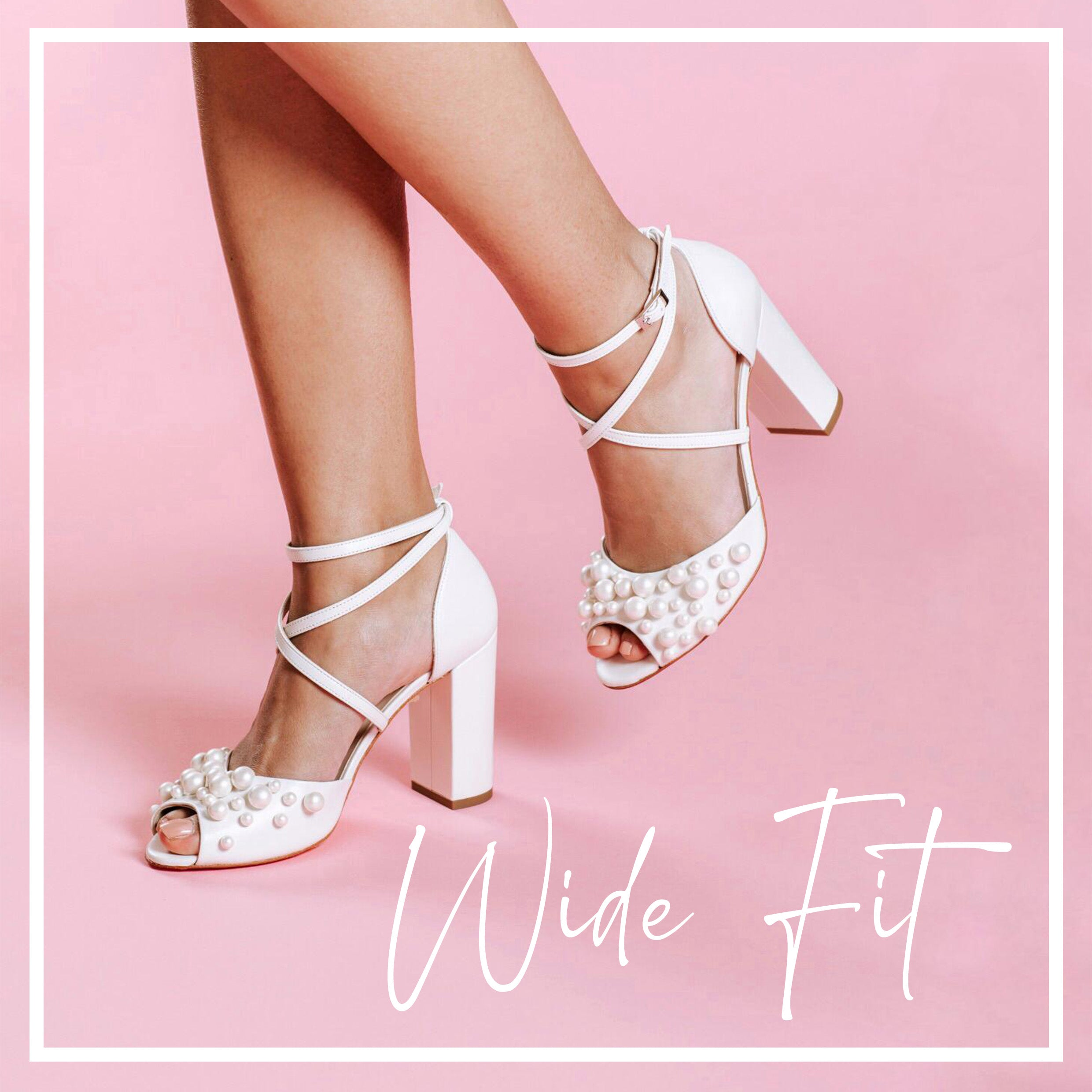Wide Fit Wedding Shoes – Charlotte Mills