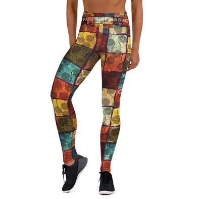Amerukhan Pattern Yoga Leggings Yoga...