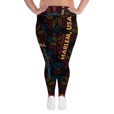Da Hill 128 street All-Over Print Plus Size Leggings