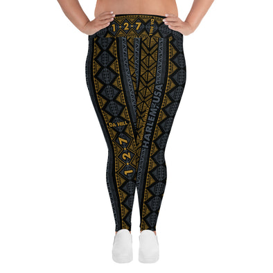 Da Hill 127 street All-Over Print Plus Size Leggings