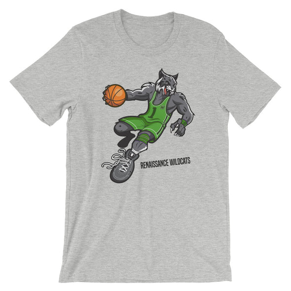 Wildcat Mascot!  Bella + Canvas 3001 Unisex Short Sleeve Jersey T-Shirt with Tear Away Label