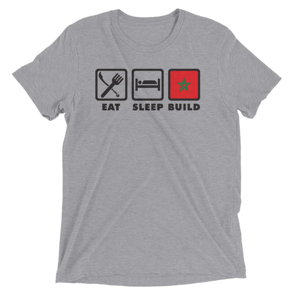 Eat, Sleep, Build Short sleeve t-shirt