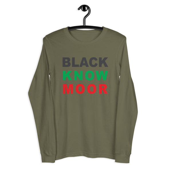 Black Know Moor Unisex Long Sleeve Tee
