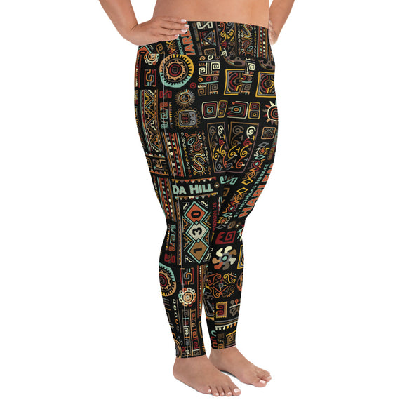 Da Hill 130 street All-Over Print Plus Size Leggings