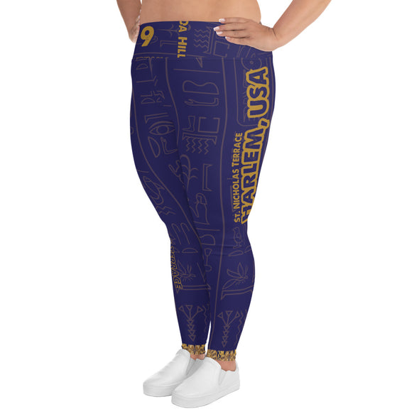 Da Hill 129 street All-Over Print Plus Size Leggings