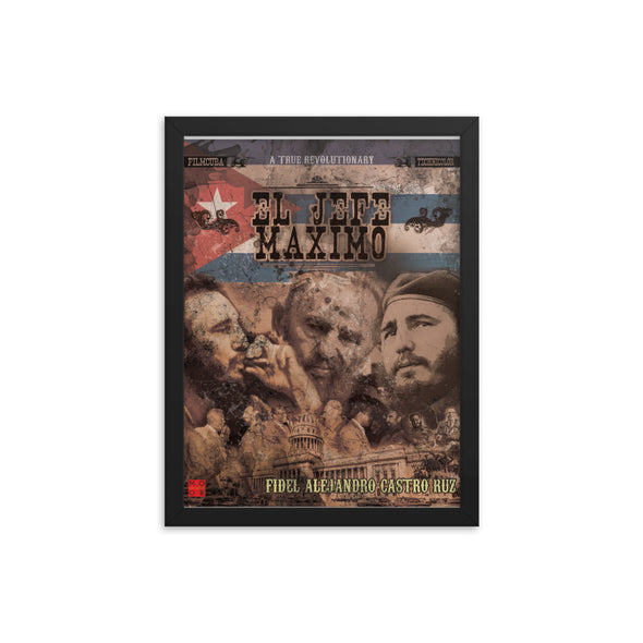 Salute to Castro - El Jaffe Maximo - Framed poster