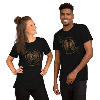 Peace to the Gods (Scarab) Short-Sleeve Unisex T-Shirt