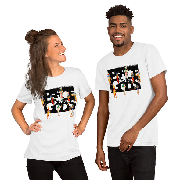 Peace to the Gods (Egyptian) Short-Sleeve Unisex T-Shirt