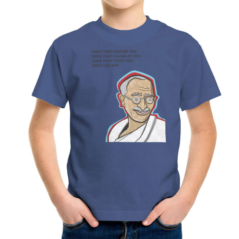Gandhi Quote Kid's T-Shirt by Toonpunk - Cloud City 7