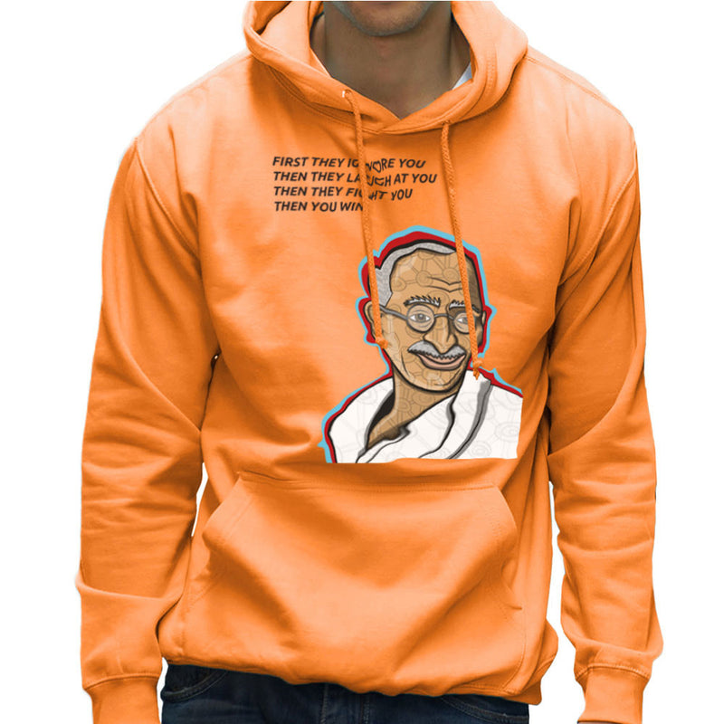 Gandhi Quote Men's Hooded Sweatshirt by Toonpunk - Cloud City 7