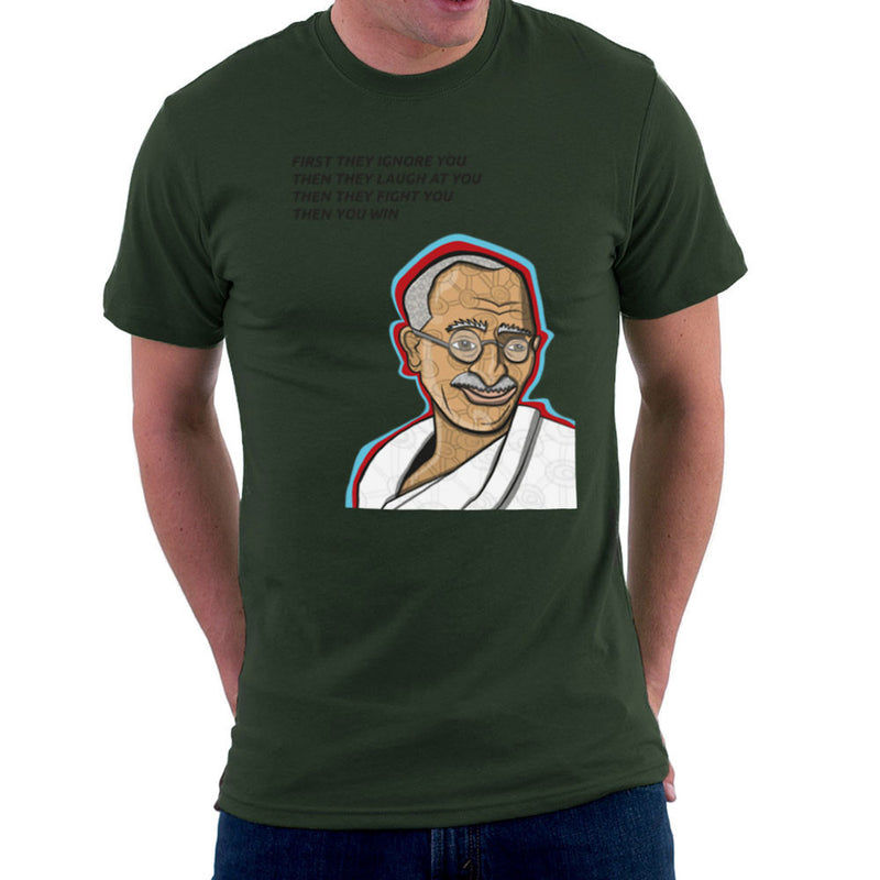 Gandhi Quote Men's T-Shirt by Toonpunk - Cloud City 7
