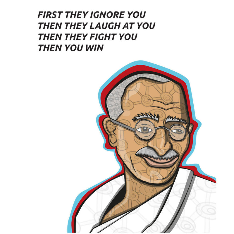 Gandhi Quote by Toonpunk - Cloud City 7