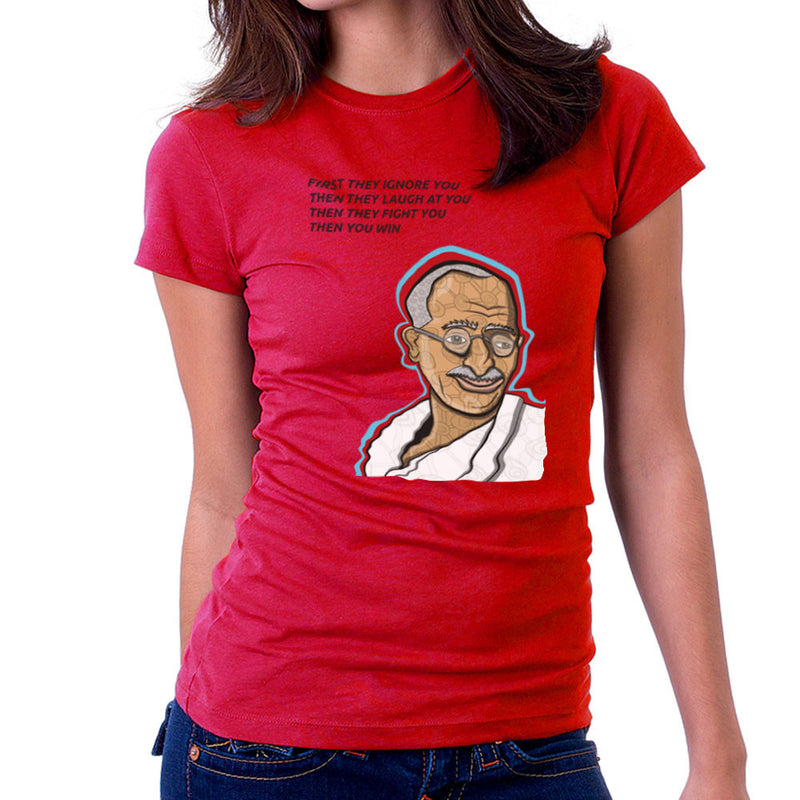 Gandhi Quote Women's T-Shirt by Toonpunk - Cloud City 7