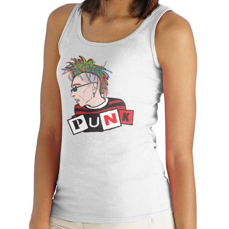 Punk Stencil Women's Vest by Toonpunk - Cloud City 7