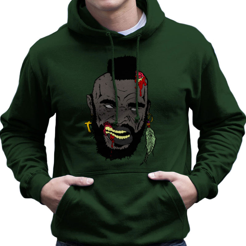 Zombie Mr. T Men's Hooded Sweatshirt by Chris Stringer - Cloud City 7