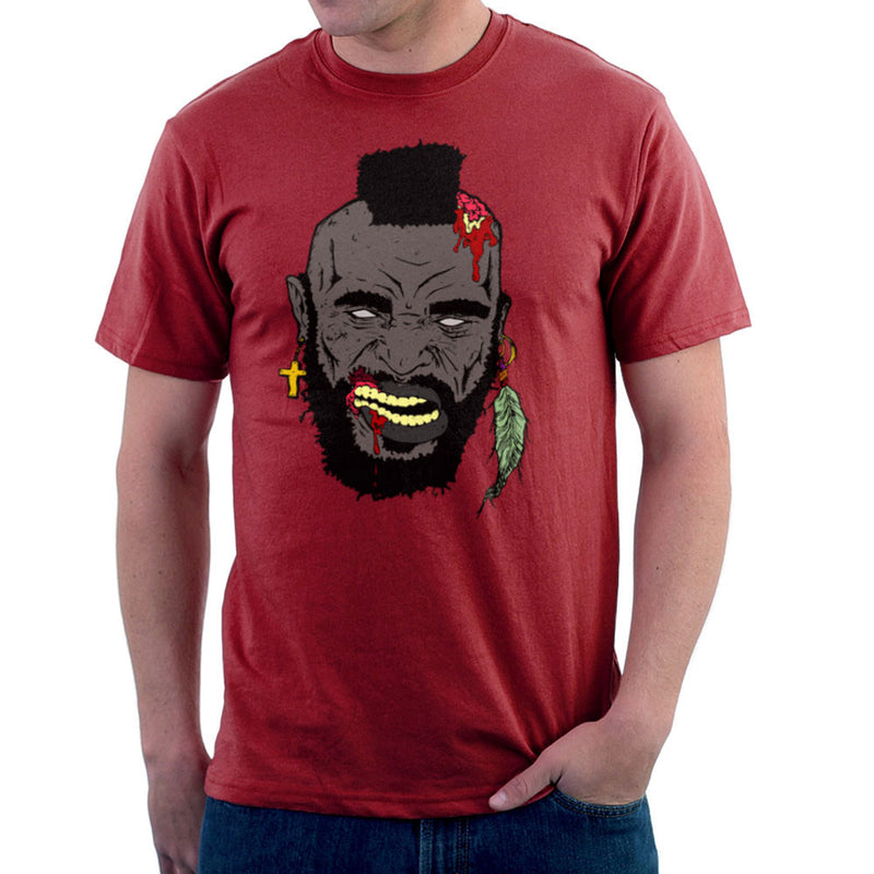 Zombie Mr. T Men's T-Shirt by Chris Stringer - Cloud City 7
